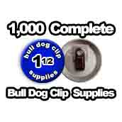 1,000 x Bulldog Clip Supplies 1-1/2 inch