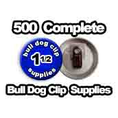 500 x Bulldog Clip Supplies 1-1/2 inch