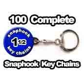 100 x Key Chain Snaphook Supplies 1-1/2 inch