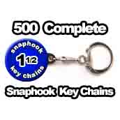 500 x Key Chain Snaphook Supplies 1-1/2 inch
