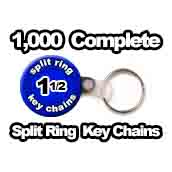 1,000 x Key Chain Split Ring Supplies 1-1/2 inch