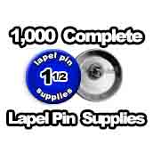 1,000 x Lapel Pin Supplies 1-1/2 inch