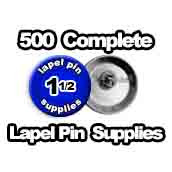 500 x Lapel Pin Supplies 1-1/2 inch