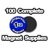100 x Magnet Supplies 1-1/2 inch