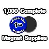 1,000 x Magnet Supplies 1-1/2 inch