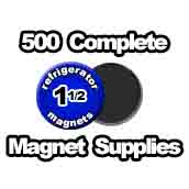 500 x Magnet Supplies 1-1/2 inch