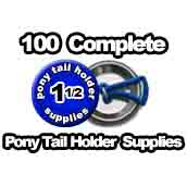 100 x Pony Tail Holder Supplies 1-1/2 inch