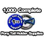 1,000 x Pony Tail Holder Supplies 1-1/2 inch