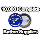 10,000 x Pinned Back Button Supplies 1-1/2 inch