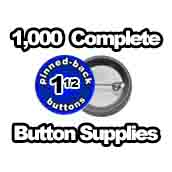 1,000 x Pinned Back Button Supplies 1-1/2 inch