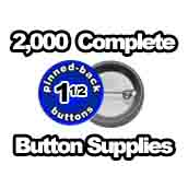2,000 x Pinned Back Button Supplies 1-1/2 inch