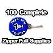 100 x Zipper Pull Supplies 1-1/2 inch