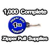 1,000 x Zipper Pull Supplies 1-1/2 inch