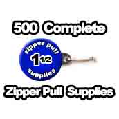 500 x Zipper Pull Supplies 1-1/2 inch