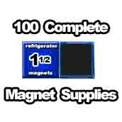100 x Magnet Supplies 1-1/2 inch Square