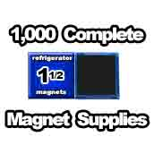 1,000 x Magnet Supplies 1-1/2inch Square