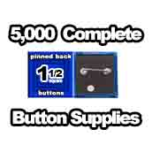 5,000 x Pinned Back Button Supplies 1-1/2 Square