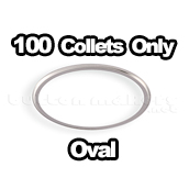 100 x Collet Only Oval