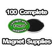 100 x Magnet Supplies Oval