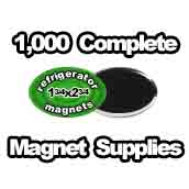 1,000 x Magnet Supplies Oval