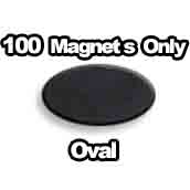 100 x Magnets Only Oval