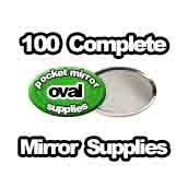 100 x Pocket Mirror Supplies Oval