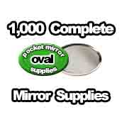 1,000 x Pocket Mirror Supplies Oval