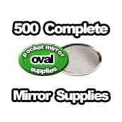 500 x Pocket Mirror Supplies Oval