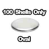 100 x Shells only Oval