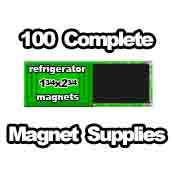 100 x Magnet Supplies 1-3/4x2-3/4