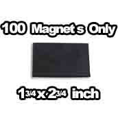 100 x Magnets Only 1-3/4 x 2-3/4 inch