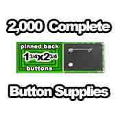 2,000 x Pinned Back Button Supplies 1-3/4x2-3/4 rectangle