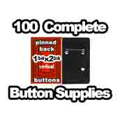 100 x Vertical Back Button Supplies 1-3/4x2-3/4 rectangle