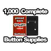 1,000 x Vertical Back Button Supplies 1-3/4x2-3/4 rectangle