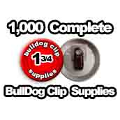 1,000 x Bulldog Clip Supplies 1-3/4 inch