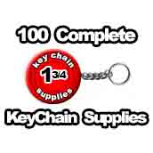 100 x Key Chain Split Ring Supplies 1-3/4 inch