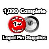 1,000 x Lapel Pin Supplies 1-3/4 inch