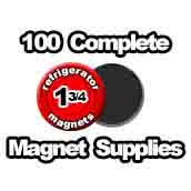 100 x Magnet Supplies 1-3/4 inch