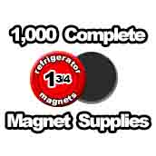 1,000 x Magnet Supplies 1-3/4 inch