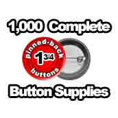 1,000 x Pinned Back Button Supplies 1-3/4 inch