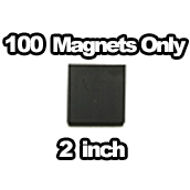 100 x Magnets Only 2 inch
