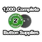 1,000 x Pinned Back Button Supplies 2 inch