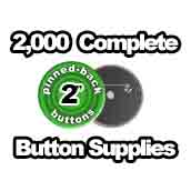 2,000 x Pinned Back Button Supplies 2 inch