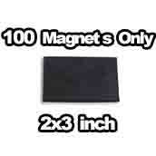 100 x Magnets Only 2x3 inch