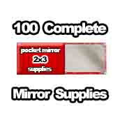 100 x Pocket Mirror Supplies 2x3 inch