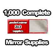 1,000 x Pocket Mirror Supplies 2x3 inch