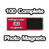 100 x PHOTO Magnet Supplies 2x3 Rectangle