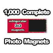 1,000 x PHOTO Magnet Supplies 2x3 Rectangle