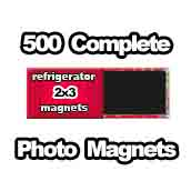 500 x PHOTO Magnet Supplies 2x3 Rectangle