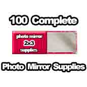 100 x PHOTO Pocket Mirror Supplies 2x3 inch
